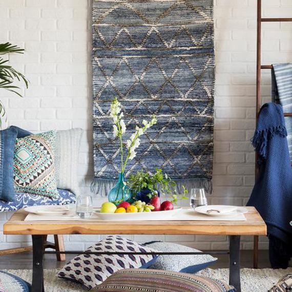 Obelu Blue Tapestry · Raghav Wall Tapestry