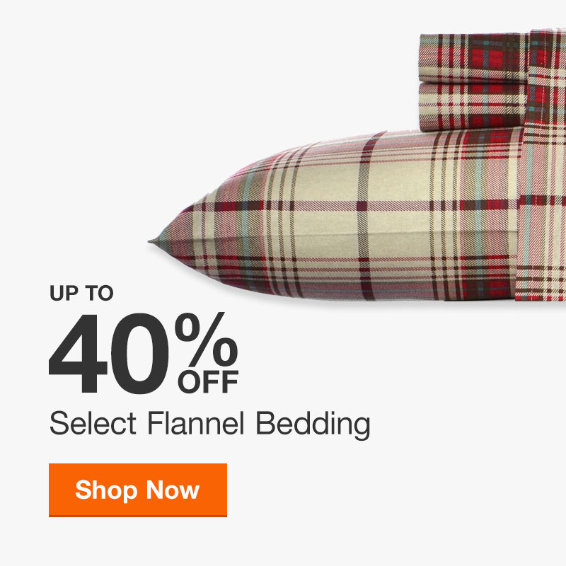 Up to 40% off Select Flannel Bedding