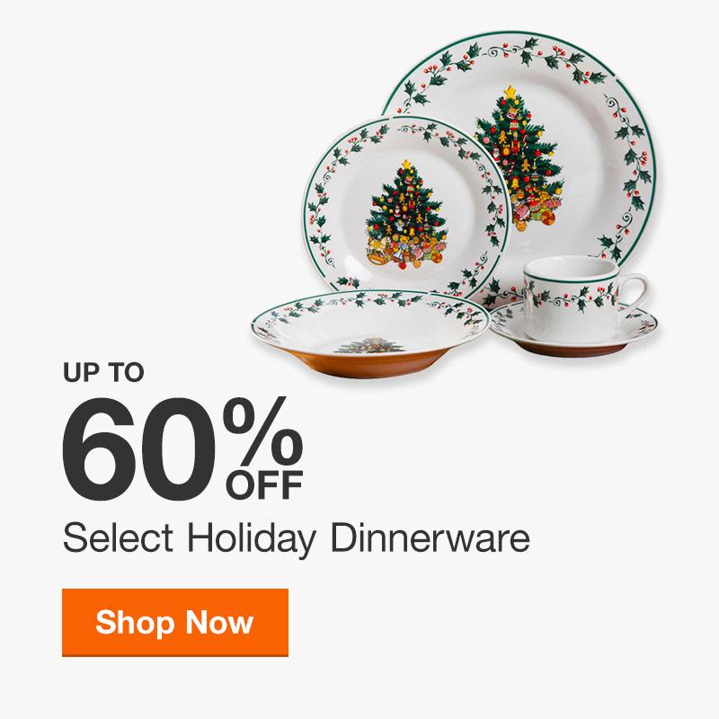 Up to 60% off Select Christmas & Seasonal Dinnerware