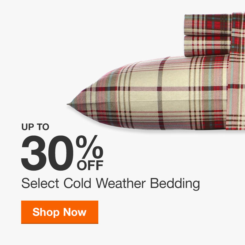 Up to 30% off Select Cold Weather Bedding