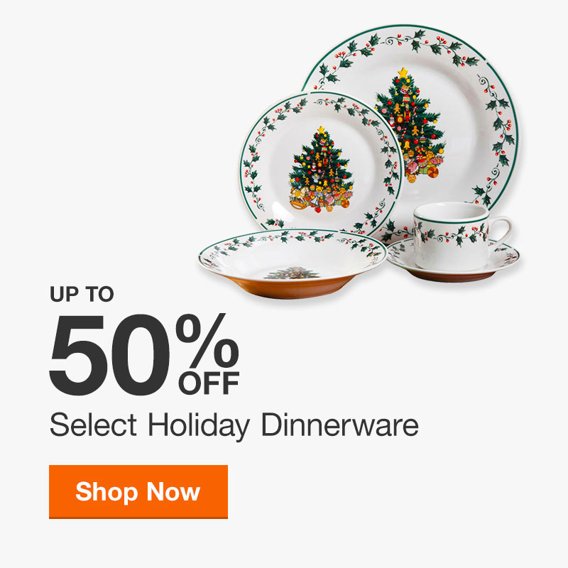 Up to 50% off Select Holiday Dinnerware