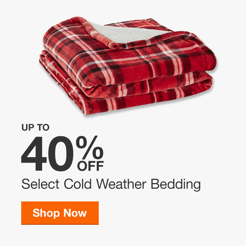 Up to 40% off Select Cold Weather Bedding