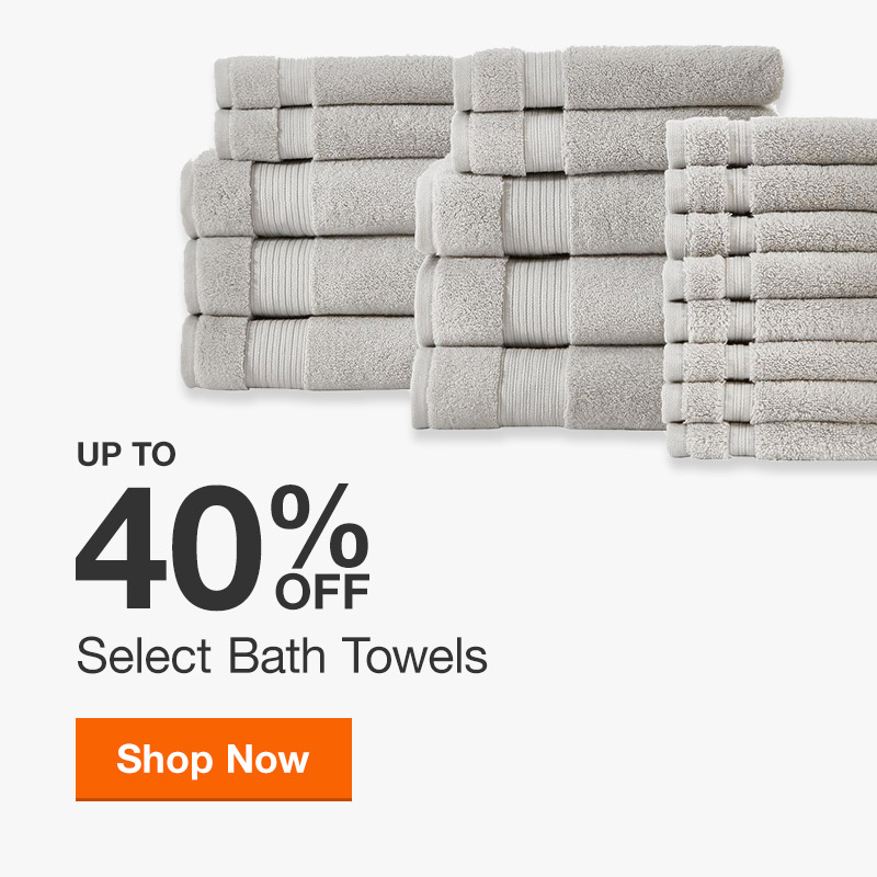 Up to 40% off Select Bath Towels