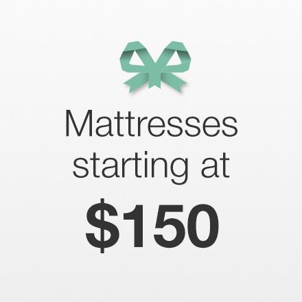 Mattresses Starting at $150