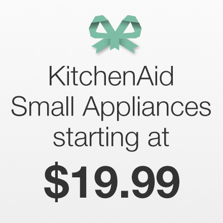 KitchenAid Small Appliances Starting at $19.99