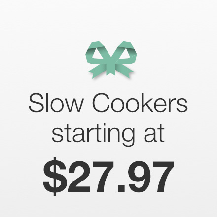 Slow Cookers Starting at $27.97