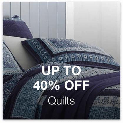 Up to 40% Off Quilts
