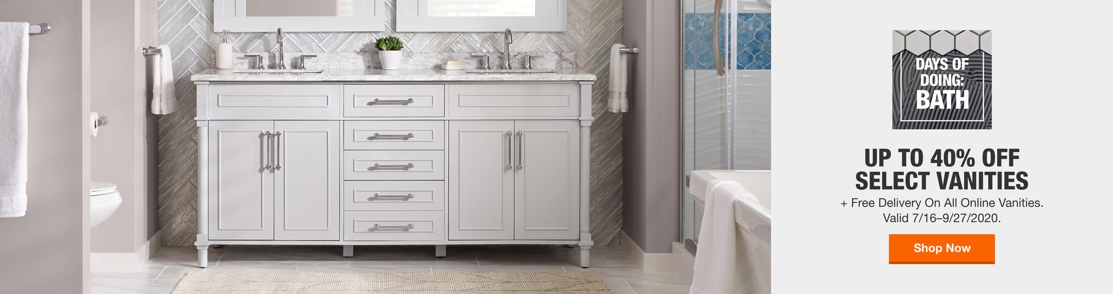 40 Off Or More Bathroom Vanities