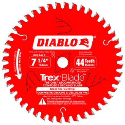 Diablo 7 1 4 In X 8 Tooth Pcd Tipped Flooring Blade D0708lf The Home Depot