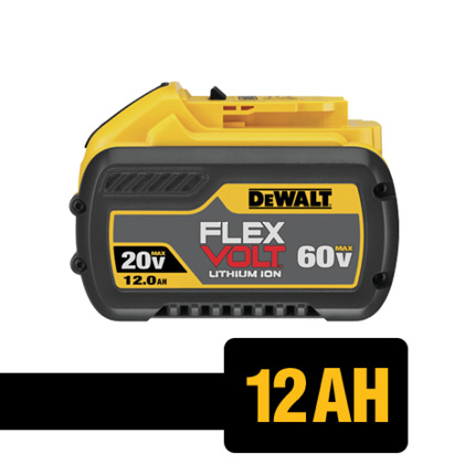Get up to 8x the runtime when using DEWALT FLEXVOLT batteries with 20 VOLT MAX tools.