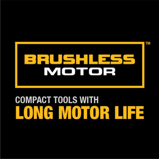 DEWALT brushless motor delivers up to 57% more run time over brushed.