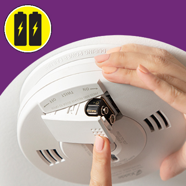 No wires, smoke and carbon monoxide alarms run only on batteries