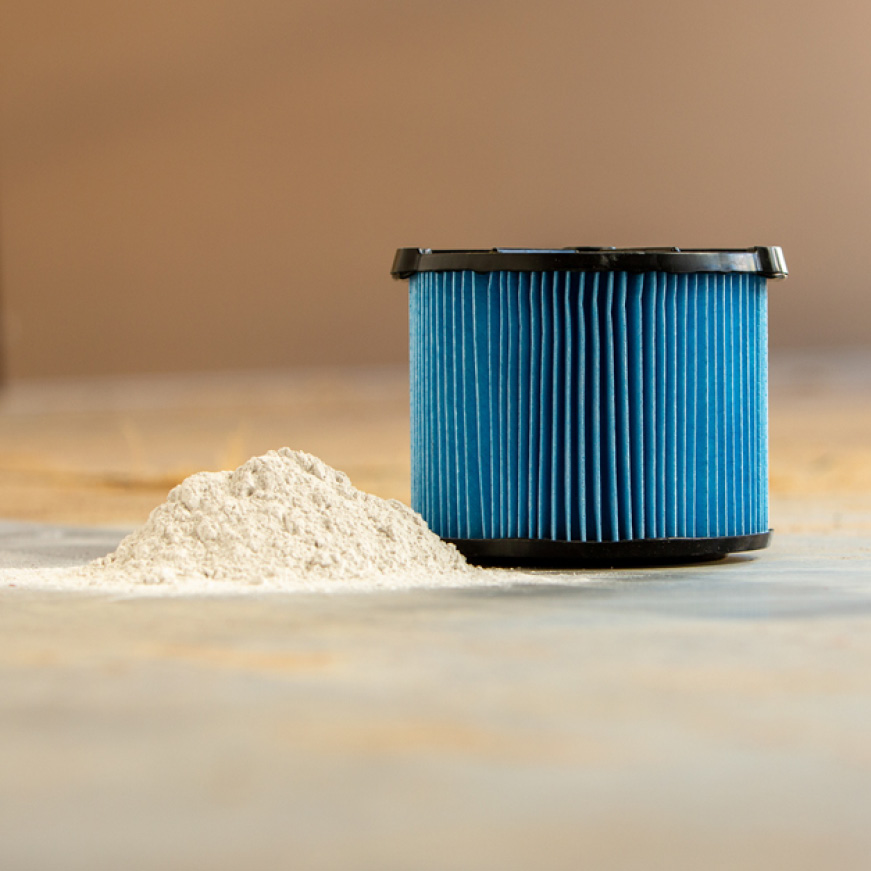 3-Layer Fine Dust filtration for fine particles such as dust, drywall sanding and cold ash.