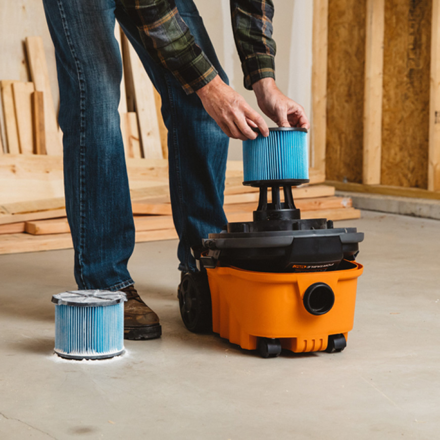 Pairing RIDGID filters and vacuums helps protect the motor from harmful dust and debris, extending the vacuum's life.