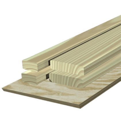This is an image of a pressure treated wood material application.