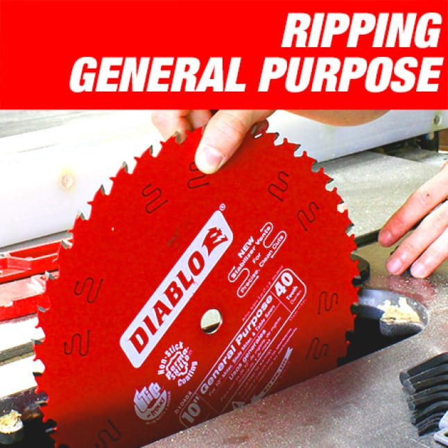 This is an image of a Diablo ripping general purpose circular saw blade.