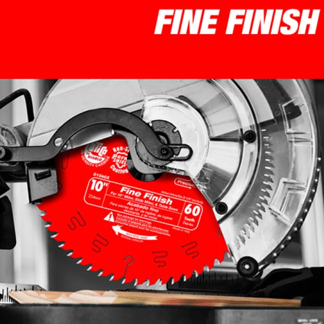 This is an image of a Diablo fine finish circular saw blade.