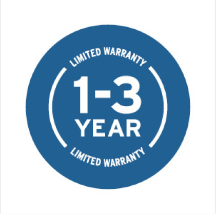 One to Three Year Warranty Icon