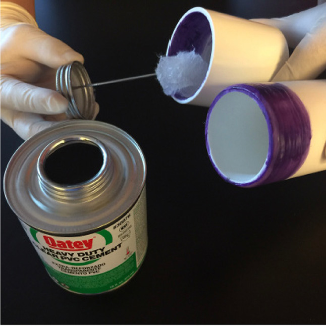 Solvent welding PVC pipe