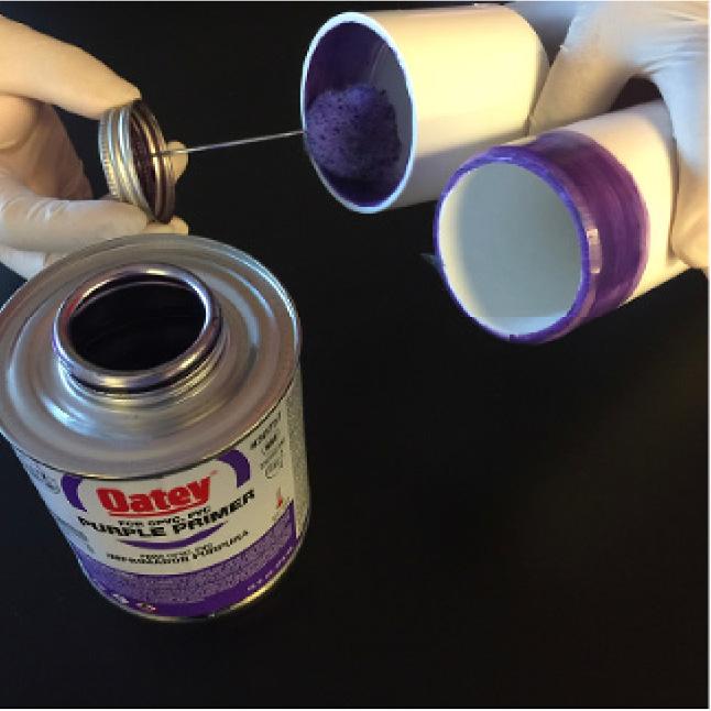 Priming PVC pipe