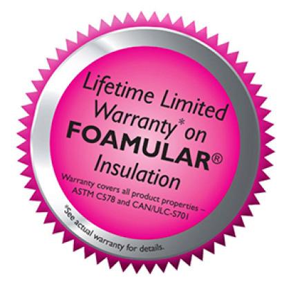 badge for Foamular warranty
