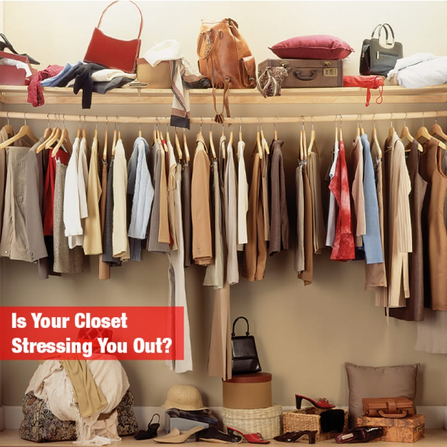 Clean up cluttered closets