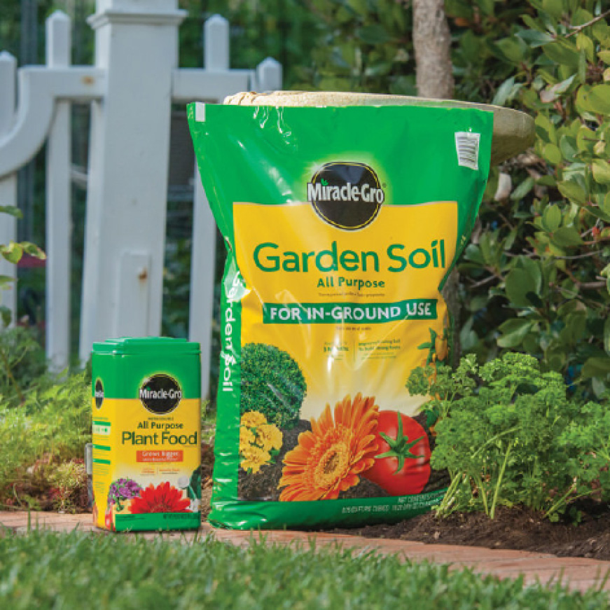 Miracle-Gro All Purpose Garden Soil, Plant Food and Bonnie plants