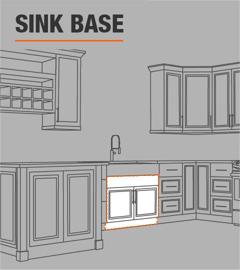 Installing Kitchen Base Cabinets: Hampton Bay Hampton Assembled 60x34.5x24 In. Sink Base