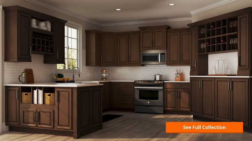 Hampton Bay Preassembled Kitchen Cabinets