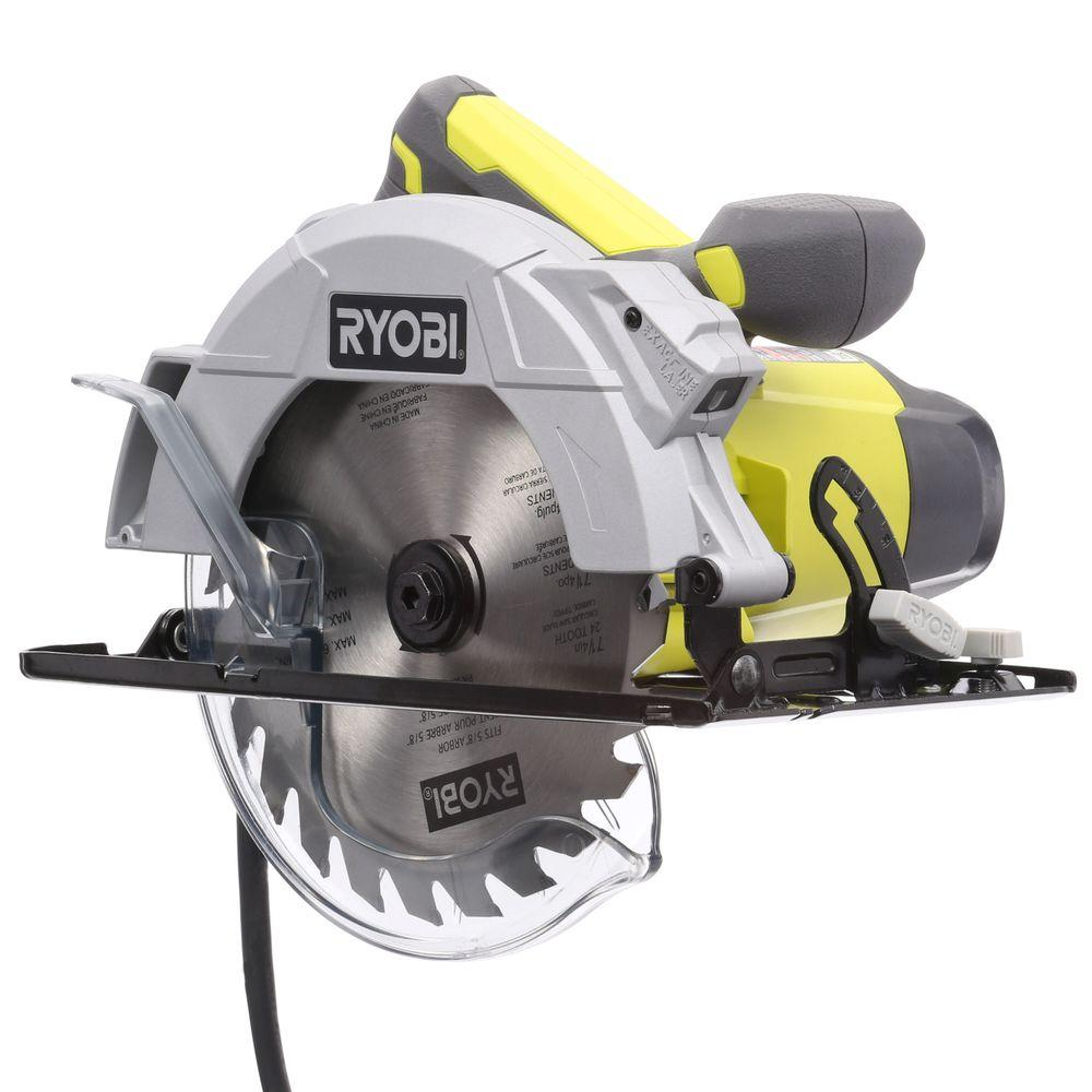 Ryobi 14 amp 7 14 in circular saw with laser csb143lzk the home circular saw with laser csb143lzk the home depot greentooth Gallery