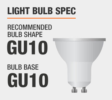 Recommended Bulb Shape: GU10, Recommended Bulb Base: GU10