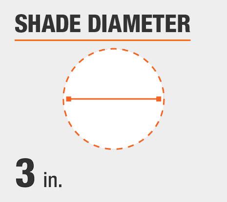 Shade Diameter: 3.00 in.