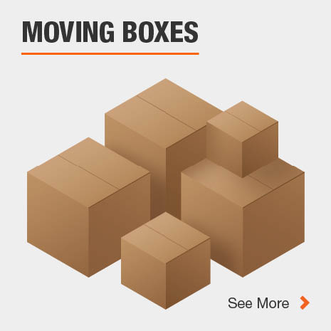 Various standard moving box sizes