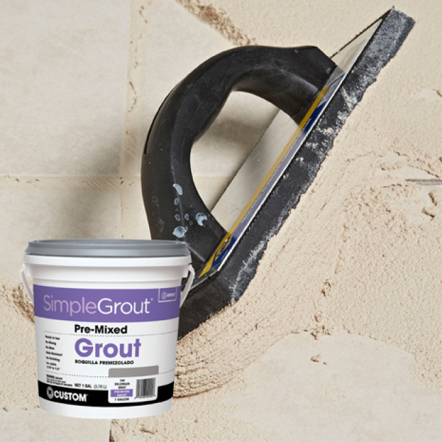 SimpleGrout spread with grout float