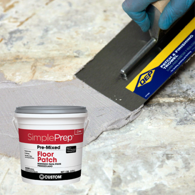 SimplePrep spread on install surface with trowel