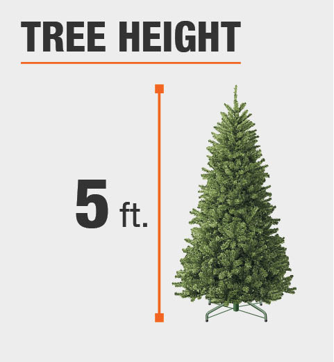 Artificial Christmas Tree Sizes.Home Accents Holiday 5 Ft Wood Trail Pine Artificial Christmas Tree With 200 Clear Lights