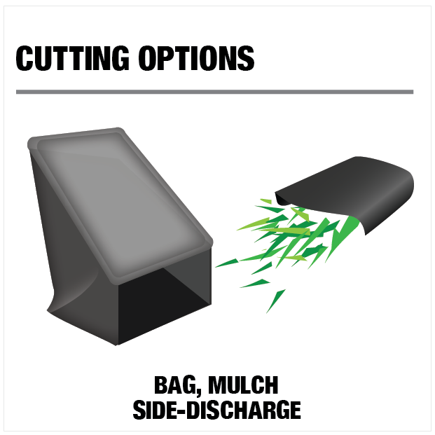 Cutting Option: Bag, Mulch, Side-Discharge