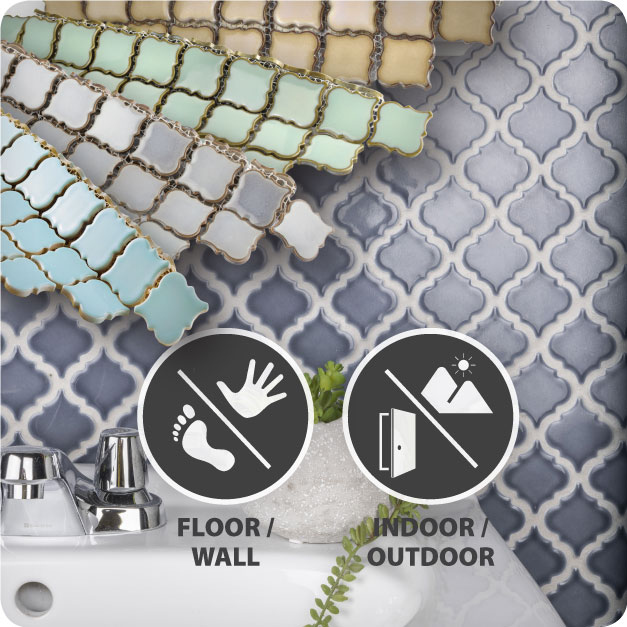 Products in the Merola Tile Hudson Tangier Collection are suitable for indoor or outdoor floor and wall applications.