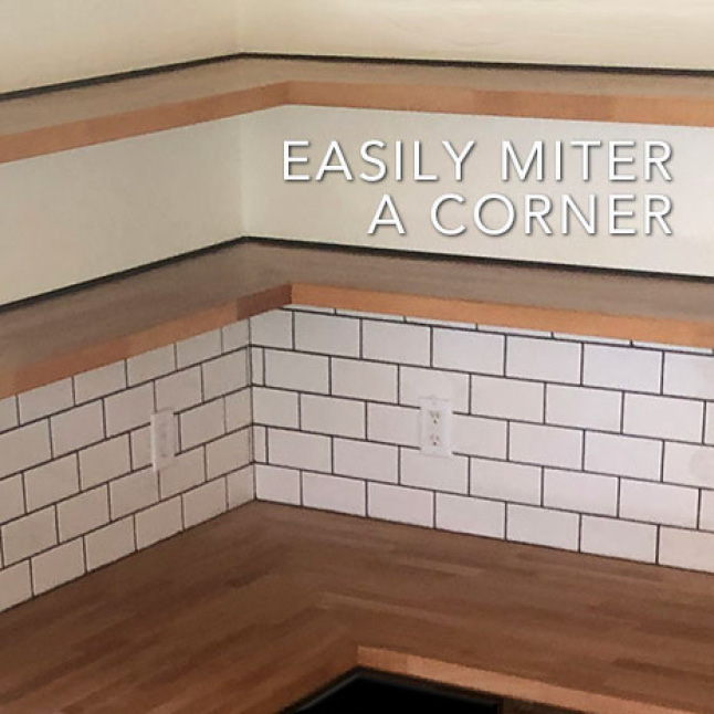 Choose to miter or butt joint a corner or extend the length or width by simply joining two Hardwood Reflections Beech Butcher Blocks together