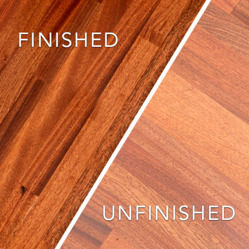 Common Unfinished Sapele Butcher Block sealing and finishing options are mineral oils or conditioners and polyurethane based lacquers