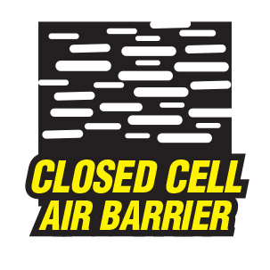 Touch N Foam Is Completely Closed Cell For A Better Air Seal