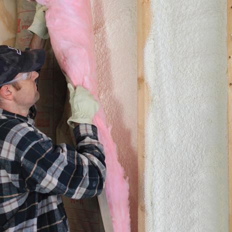 Enhance Fiberglass with Spray Foam to get a Full Air Seal