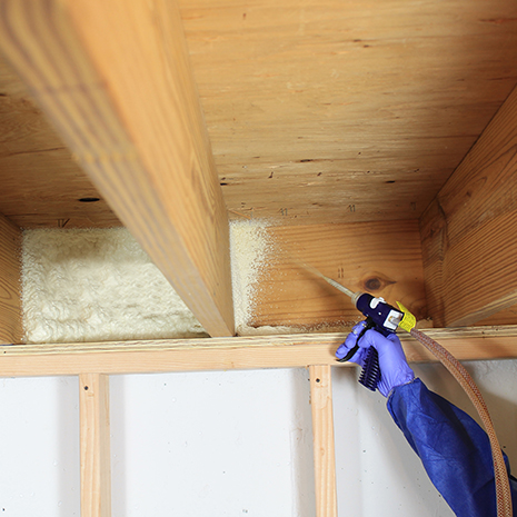FILLING IN ATTIC AND BASEMENT WALL CAVITIES