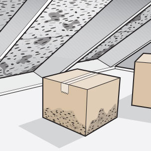 Stains or mold growth inside your home may be caused by inadequate attic ventilation. Excessive moisture in the attic allows mold and mildew to thrive