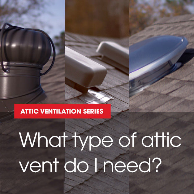 Choosing the right attic ventilation for your home is very important. GAF offers a great selection of Master Flow and Cobra products.