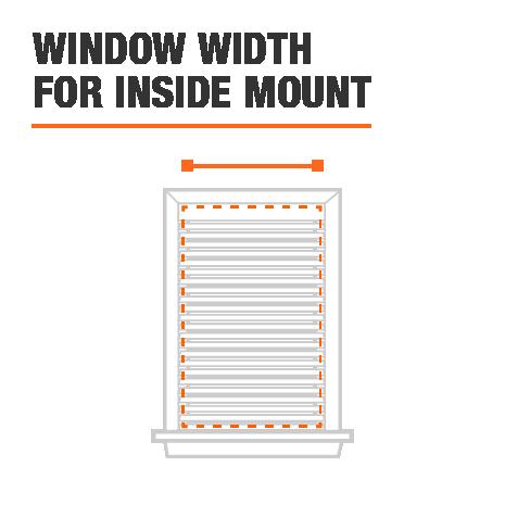 Inside Mount Width