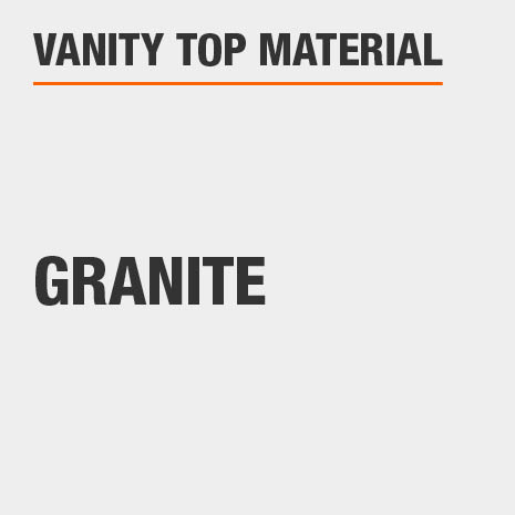 This bathroom vanity top material is Granite