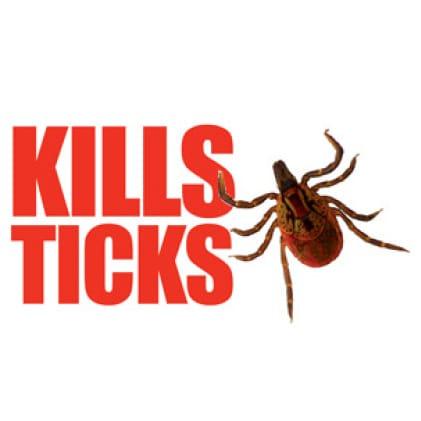 Kills ticks