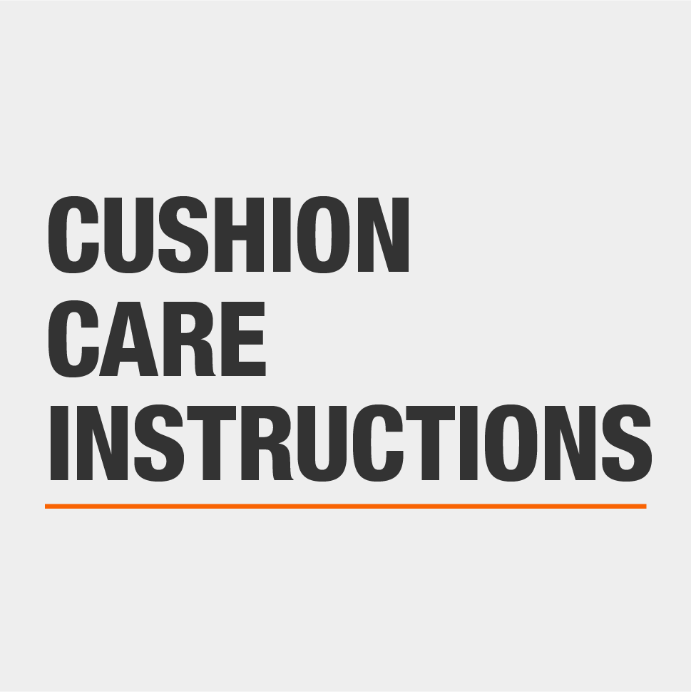 Care Instructions for your patio furniture cushions