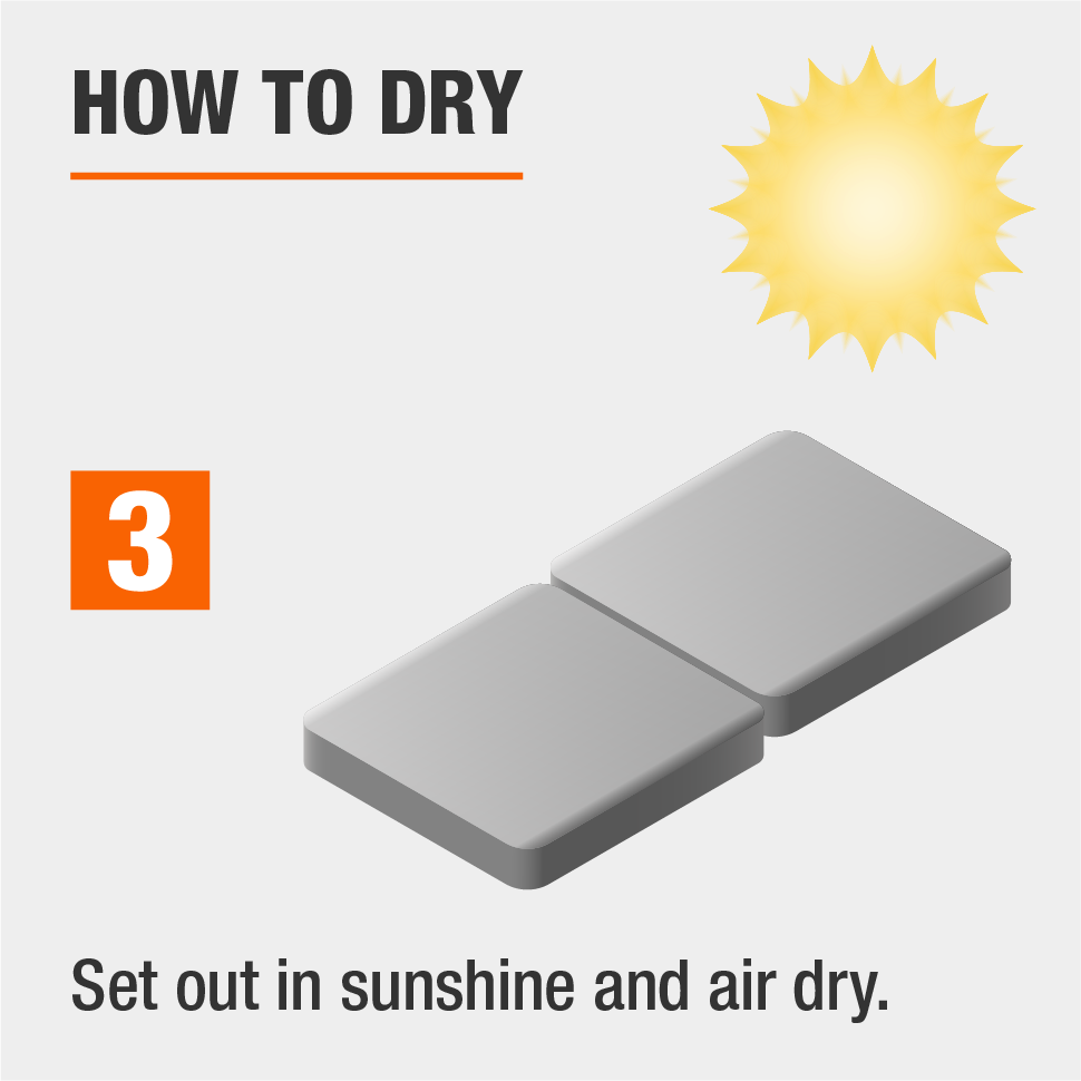 Set out in sunshine and let air dry